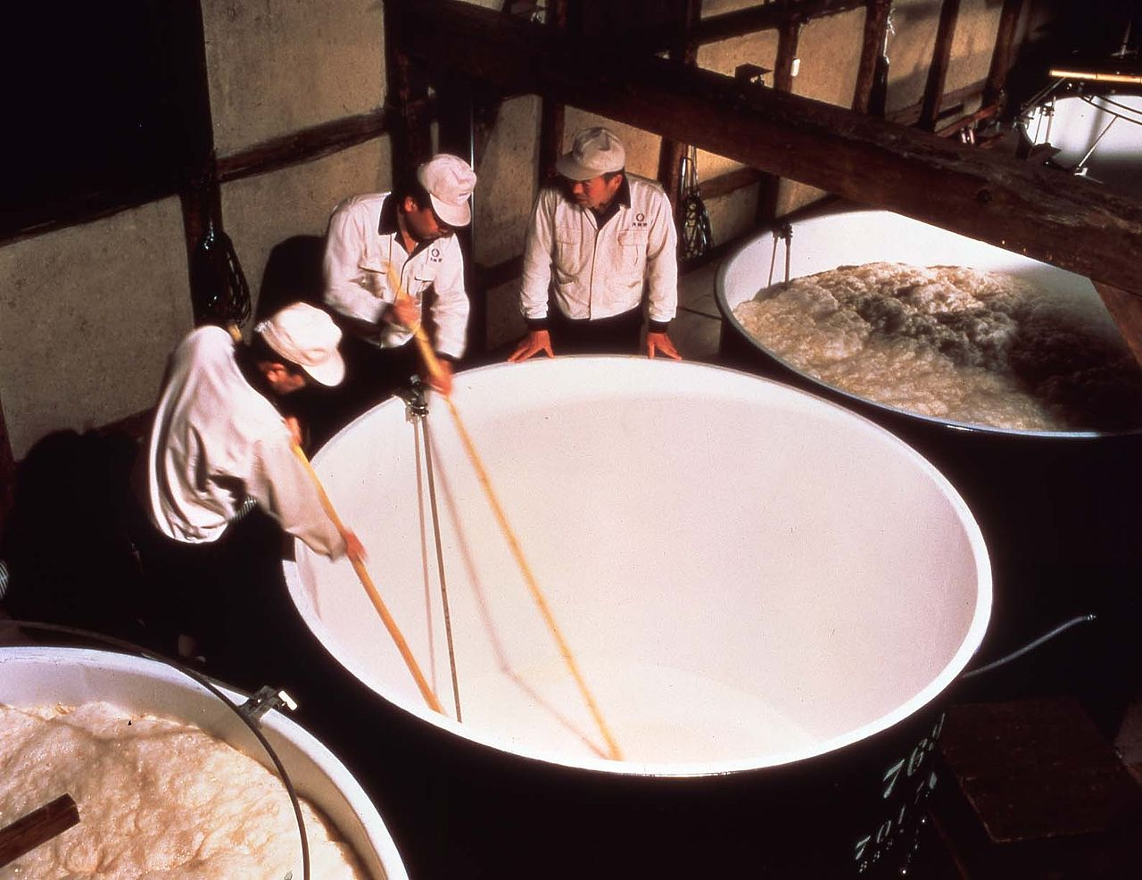 technique de brassage du saké japonais : moromi